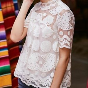 NWT Anthropologie HD in Paris Lemon Lily Lace 2